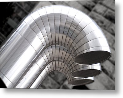 Industrial Air Ducts Metal Print by Henri Irizarri