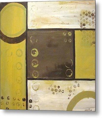 Industrial Circles No.2 Metal Print