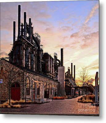 Metal Print featuring the photograph Industrial Landmark by DJ Florek