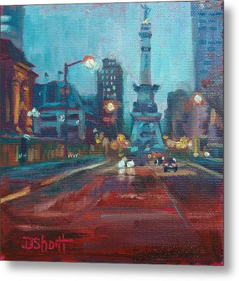 Indy Circle Night Metal Print