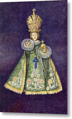 Infant Jesus Of Prague Metal Print by Yuriy  Shevchuk