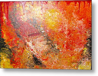 Metal Print featuring the painting Inferno by Jacqueline Athmann