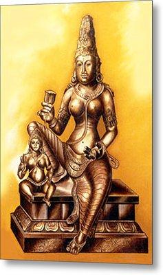 Metal Print featuring the painting Infinite Love by Ragunath Venkatraman