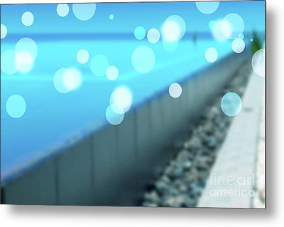 Metal Print featuring the photograph Infinity Pool by Atiketta Sangasaeng