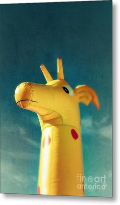 Inflatable Toy Metal Print by Carlos Caetano