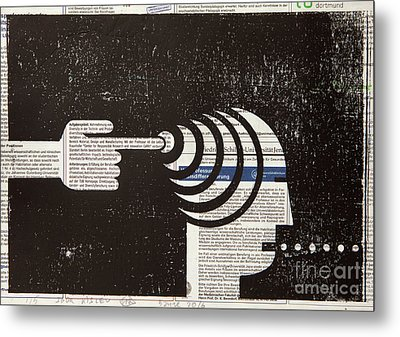 Influential Mind Control Metal Print by Igor Kislev