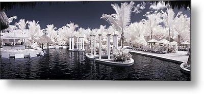 Infrared Pool Metal Print by Adam Romanowicz