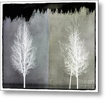 Infrared Trees With Texture Metal Print