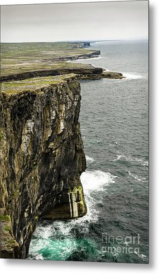 Metal Print featuring the photograph Inishmore Cliffs And Karst Landscape From Dun Aengus by RicardMN Photography