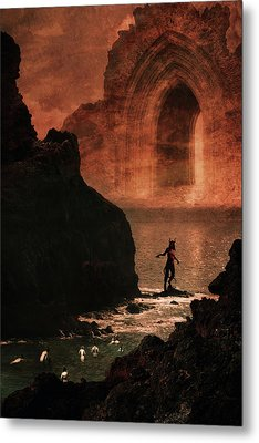 Initiation Metal Print by Cambion Art