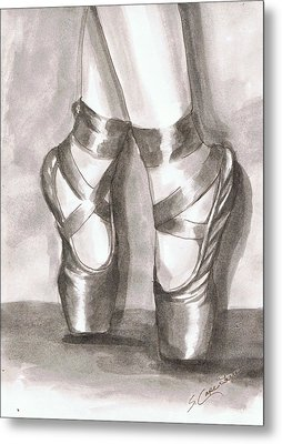 Metal Print featuring the painting Ink Wash En Pointe by Sarah Farren