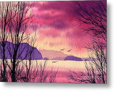Metal Print featuring the painting Inland Sea Islands by James Williamson