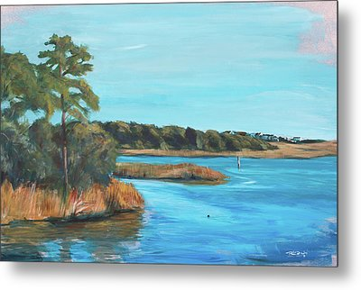 Inlet In Phthalo Metal Print