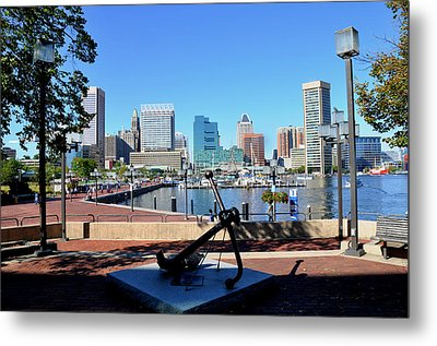 Inner Harbor Anchor Metal Print