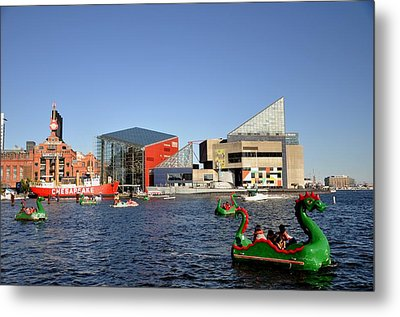 Inner Harbor Dragon Boat Metal Print