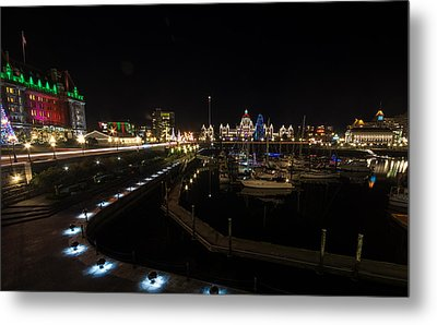 Inner Harbour Of Victoria Bc Metal Print
