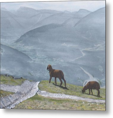 Metal Print featuring the painting Innsbruck Austria by Betty-Anne McDonald