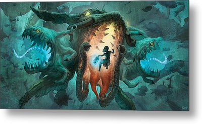 Inoculating The Water Dragon  Metal Print by Ethan Harris