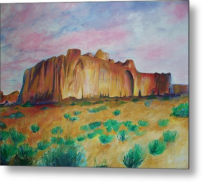 Metal Print featuring the painting Inscription Rock  by Eric  Schiabor