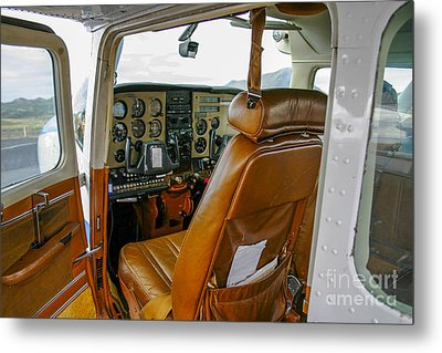 Inside A Small Plane Metal Print
