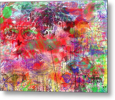 Inside Her Head Metal Print by Claire Bull