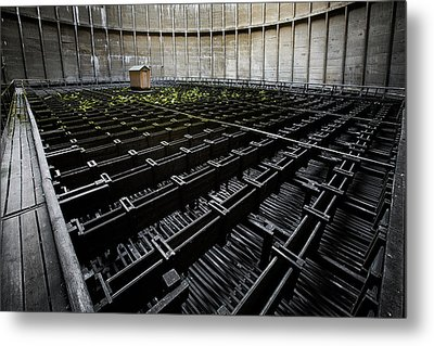 Metal Print featuring the photograph Inside Of Cooling Tower - Industrial Decay by Dirk Ercken