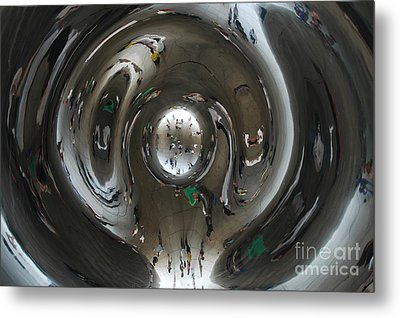 Inside The Bean Metal Print by Miguel Celis