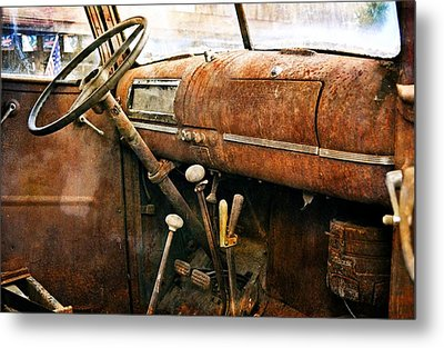 Inside The Chevy Truck Metal Print by Marty Koch