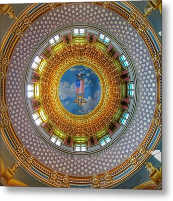 Metal Print featuring the photograph Inside The Dome by Jame Hayes