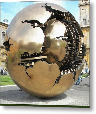 Metal Print featuring the photograph Inside The Globe by Manuela Constantin