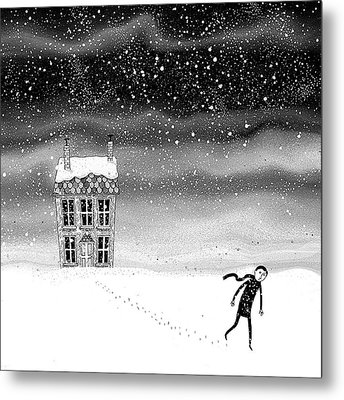 Inside The Snow Globe  Metal Print