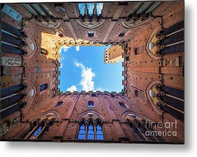 Inside The Tower Metal Print by Inge Johnsson