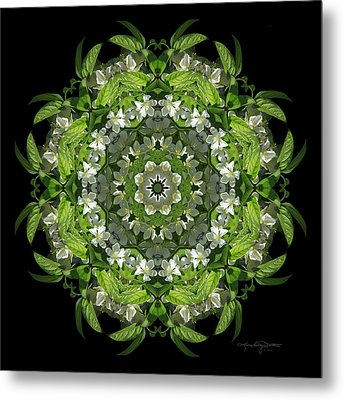 Inspired Action Metal Print by Karen Casey-Smith