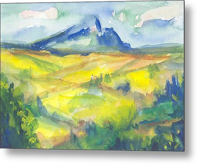 Inspired By Cezanne Metal Print by Connie Schaertl