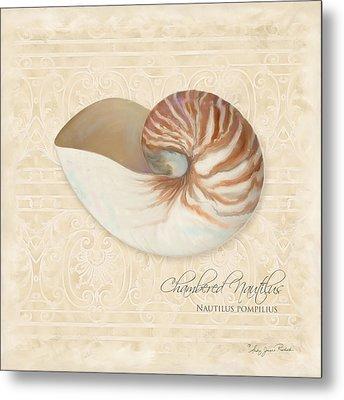 Inspired Coast Iv - Chambered Nautilus, Nautilus Pompilius Metal Print