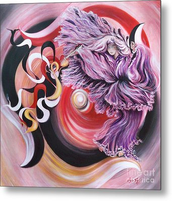 Metal Print featuring the painting Integrated Force by Sigrid Tune