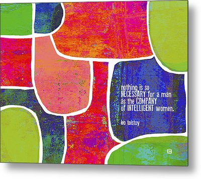 Metal Print featuring the painting Intelligent Women by Lisa Weedn