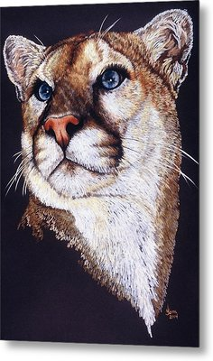 Metal Print featuring the drawing Intense by Barbara Keith