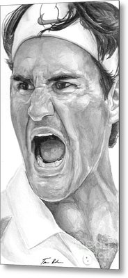 Intensity Federer Metal Print