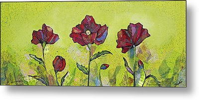 Intensity Of The Poppy I Metal Print by Shadia Derbyshire