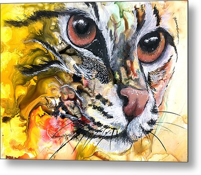 Metal Print featuring the painting Intensity by Sherry Shipley