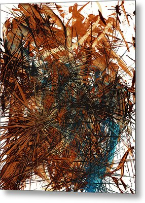 Intensive Abstract Expressionism Series 46.0710 Metal Print by Kris Haas