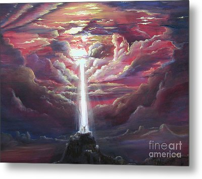 Intercession Through Worship Metal Print by Kathy Brusnighan