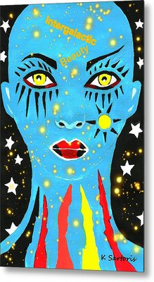 Intergalactic Beauty Metal Print