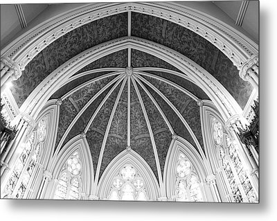 Interior Architecture Of A Church Metal Print
