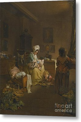 Interior Scene With A Mother Metal Print