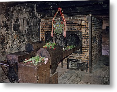 Interior View At Auschwitz Metal Print by Kenneth Garrett