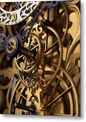 Internal Gears Within A Clock Metal Print by David Parker