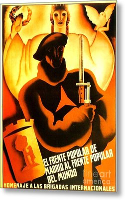 International Brigade Homage Metal Print by Roberto Prusso
