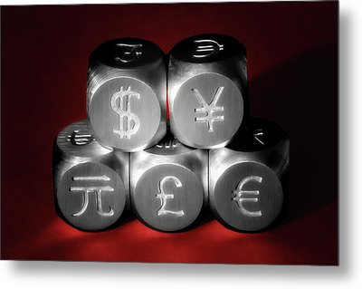 International Currency Symbols II Metal Print by Tom Mc Nemar